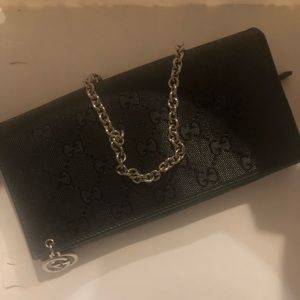 Gucci Wristlet with removable Chain
